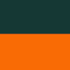 darkgreen orange